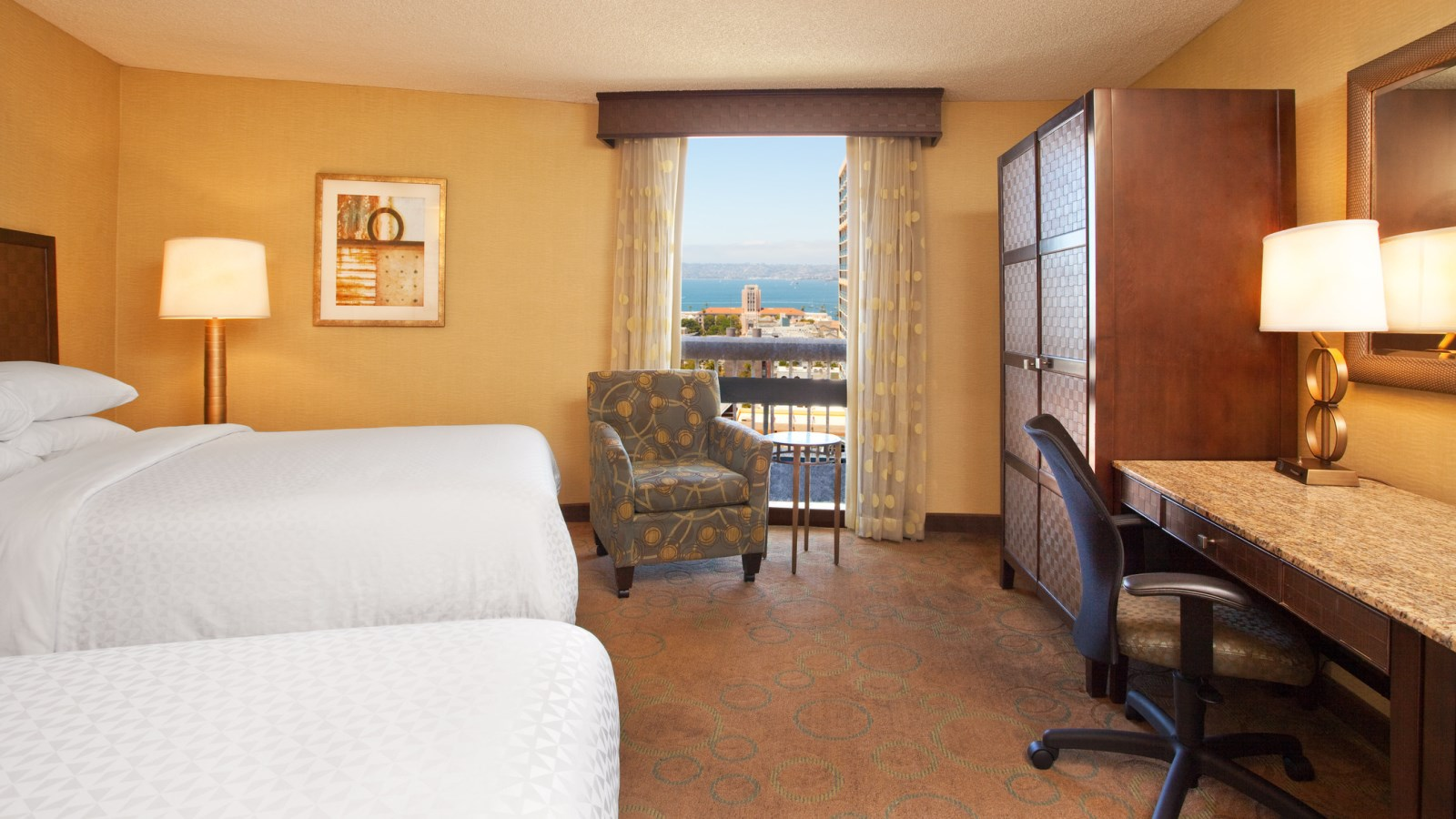 Double Queen Beds - Four Points by Sheraton San Diego Downtown